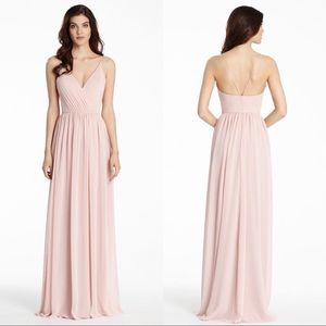 Hayley Paige Chiffon Bridesmaid Long Gown Dress 4